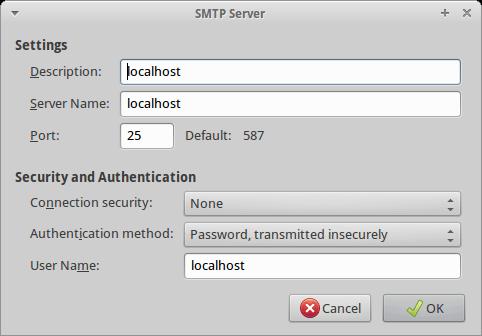 Einrichtung SMTP-Server