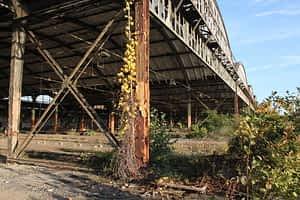 Reste des Bahnpostamtes Leipzig